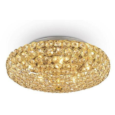 Ideal Lux King - 5 Light Ceiling Light Gold
