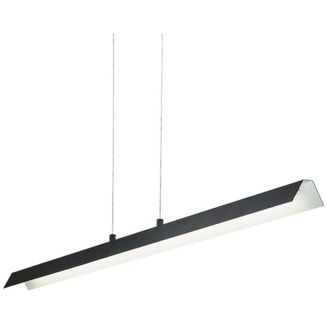 Ideal Lux LEA - Integrated LED Indoor Linear Ceiling Pendant Lamp 1 Light Black 3000K