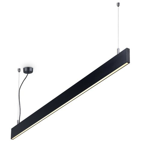 Ideal Lux LINUS - Integrated LED Indoor Linear Ceiling Pendant Lamp 1 Light Black 3000K