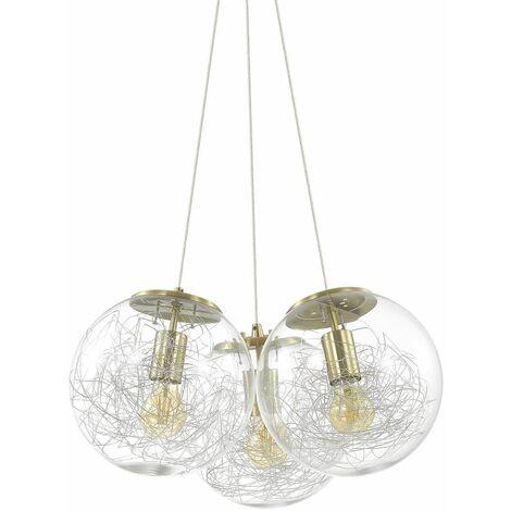 Ideal Lux Mapa - 3 Light Cluster Ceiling Pendant Brass