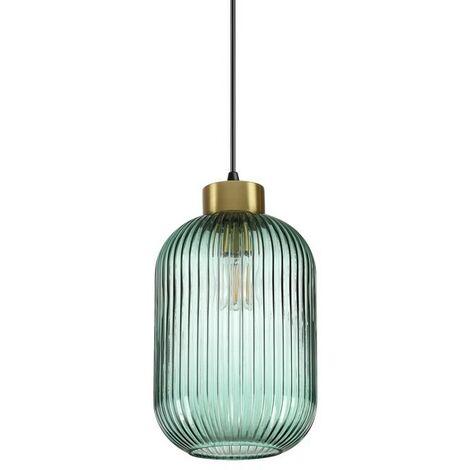"main image of ""Ideal Lux MINT-1 - Cúpula de vidrio para interior Lámpara colgante de techo 1 verde claro, E27"""