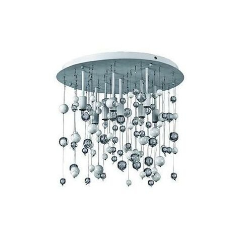 Ideal Lux Neve - 8 Light Medium Blown Glass Bubbles Ceiling Pendant Chrome, G9