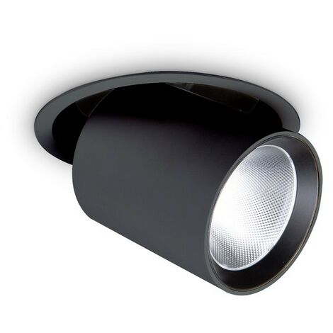 Ideal Lux NOVA - Integrated LED Indoor 30W Recessed Downlight Black 3000K