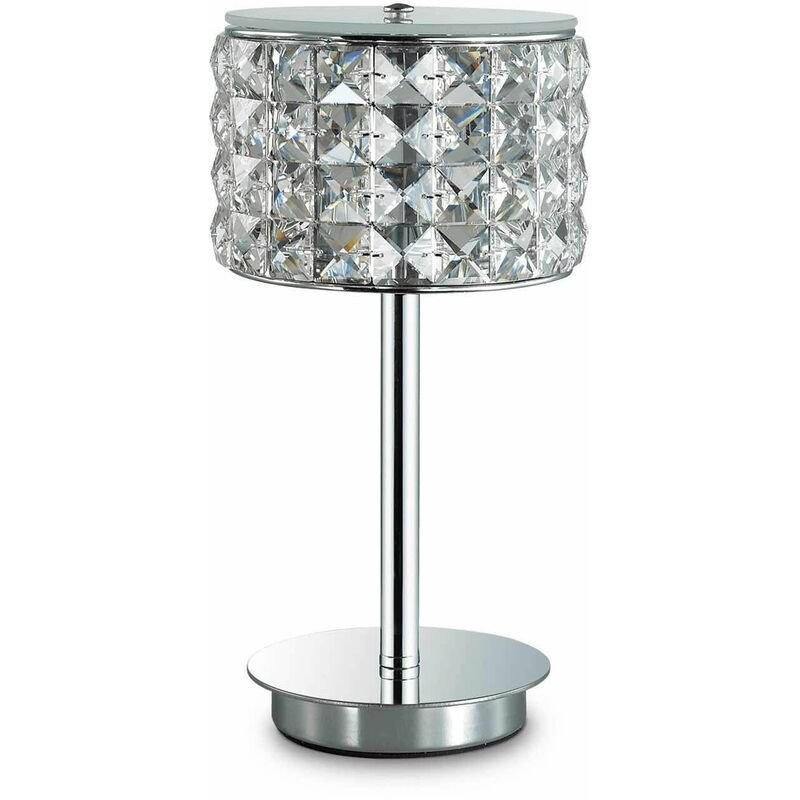 Image of 1-light chrome crystal ROMA table lamp