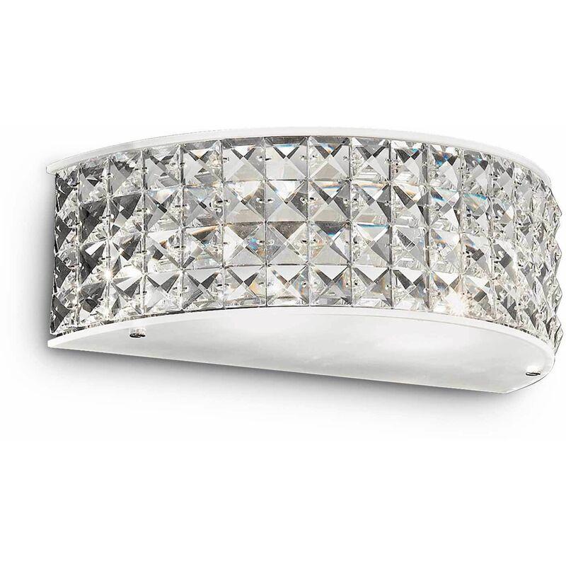 Image of 2-light chrome-plated ROMA crystal wall light
