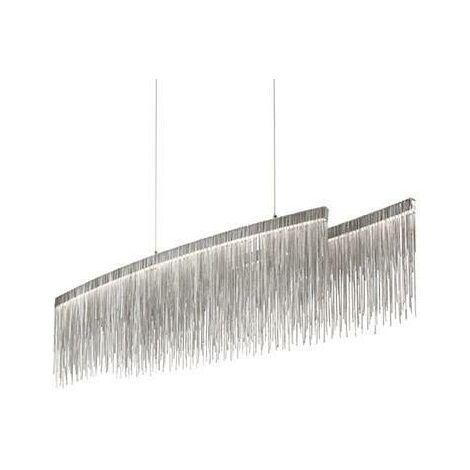 "main image of ""Ideal Lux Versus - LED Oval Ceiling Pendant Bar Light Chrome"""