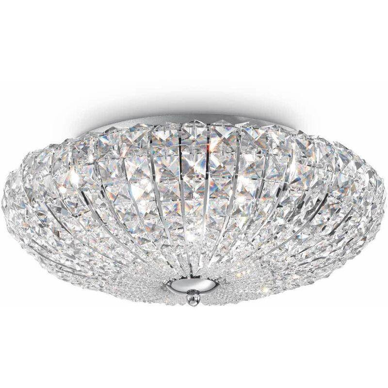 Image of 5-light VIRGIN crystal chrome ceiling light