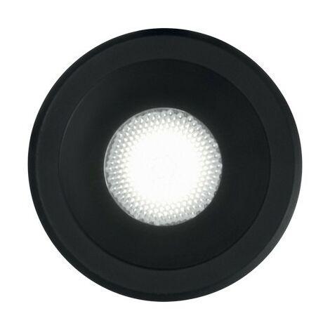Ideal Lux VIRUS - Integrated LED Indoor Recessed Downlight Lamp 1 Light Black 3000K