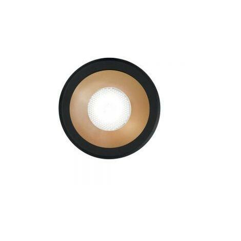Ideal Lux VIRUS - Integrated LED Indoor Recessed Downlight Lamp 1 Light Black Gold 3000K