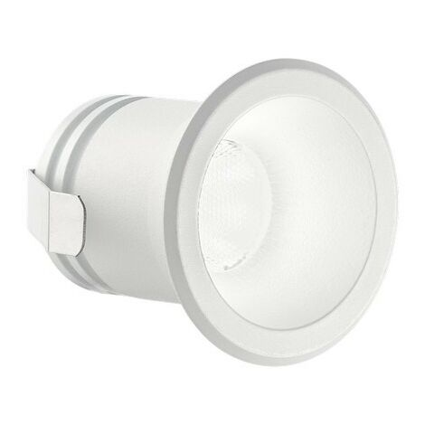 Ideal Lux VIRUS - Integrated LED Indoor Recessed Downlight Lamp 1 Light White 3000K