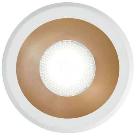Ideal Lux VIRUS - Integrated LED Indoor Recessed Downlight Lamp 1 Light White Gold 3000K