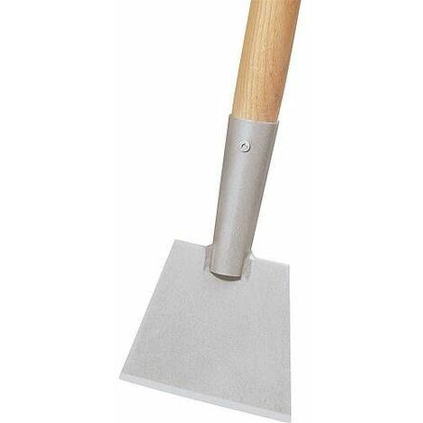 Ideal manche en hetre long 120 cm, droit, brut, avec once pour raclette et grattoir de coffrage