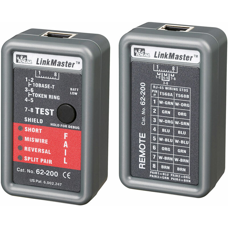 Image of 62-200 LinkMaster pin out tester - Ideal Networks