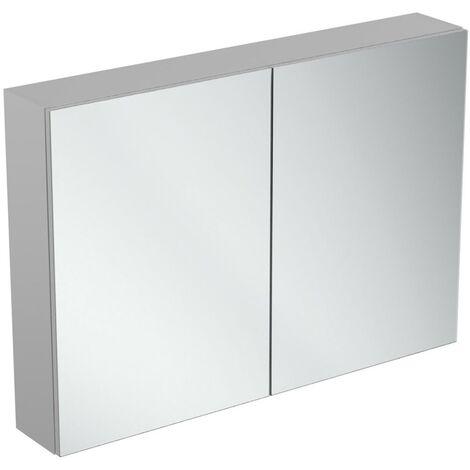 Ideal Standard 2-Door Mirror Cabinet 1000mm Wide - Aluminium