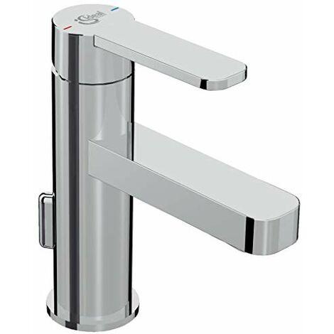 Ideal Standard B0618AA Giò Miscelatore monocomando lavabo con asta di comando scarico e piletta in metallo, cromato