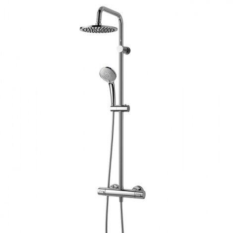 Ideal Standard Ceratherm 100 : Colonne de douche thermostatique,, 3jets, 1,75 m, chromé (A5686AA)