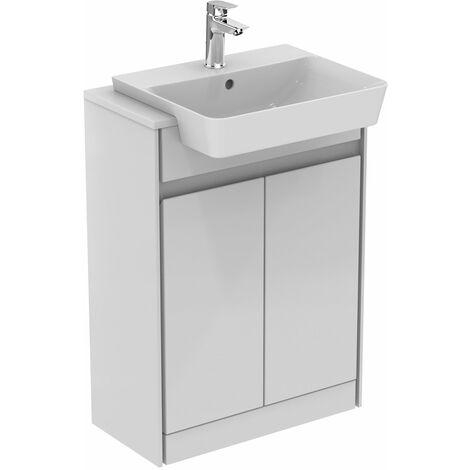 Ideal Standard Concept Air 2 Doors Semi Countertop Basin Unit 600mm Gloss White/Matt White