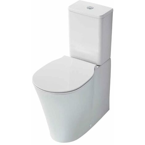 Ideal Standard Concept Air Close Coupled Back to Wall Toilet with 4/2.6 L Cistern - Slim Standard Seat