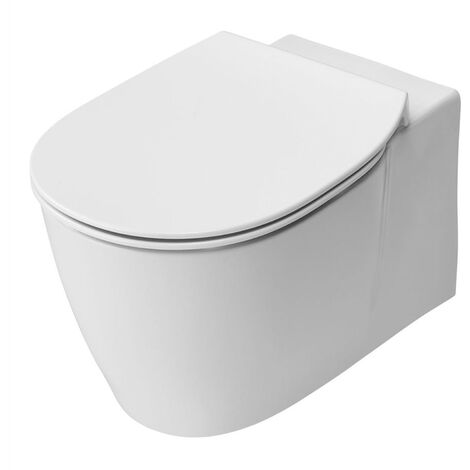Ideal Standard Concept Aquablade Wall Hung Toilet WC -Soft Close Seat 365mm Wide White