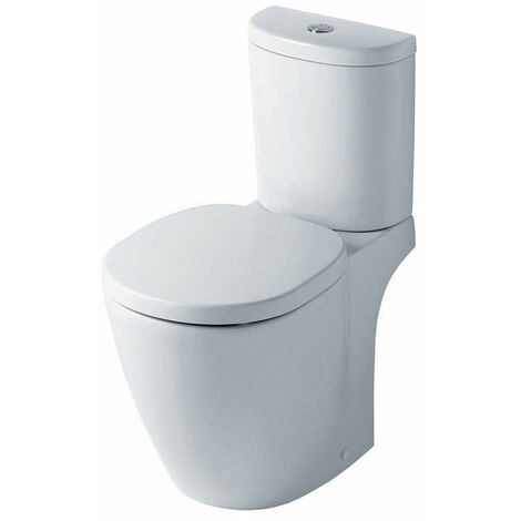 Ideal Standard Concept Arc Close Coupled WC Toilet Push Button Cistern Standard Seat White