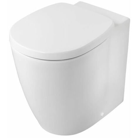 Ideal Standard Concept Freedom Raised Height Back to Wall Toilet 555mm Projection - Standard Seat