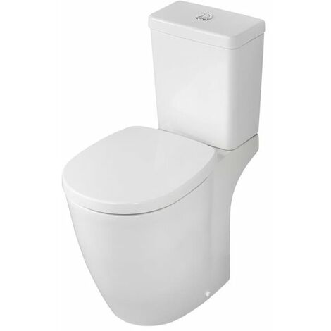Ideal Standard Concept Freedom Raised Height Close Coupled Toilet Push Cistern - Soft Close