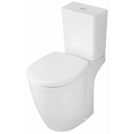 Ideal Standard Concept Freedom Raised Height Close Coupled Toilet Push Cistern - Standard Seat