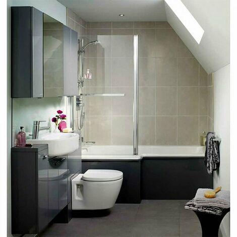 Ideal Standard Concept Idealform L-Shaped Shower Bath Left Hand 1700mm X 700mm/850mm 0 Tap Hole
