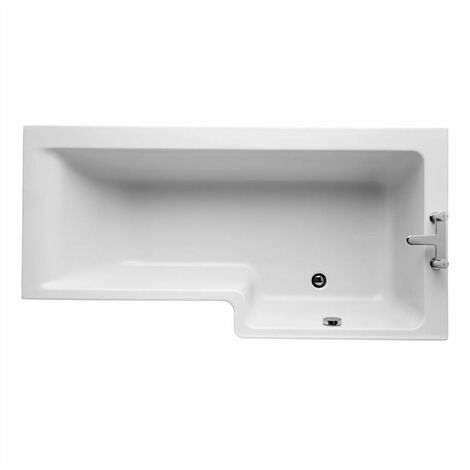 Ideal Standard Concept Idealform L-Shaped Shower Bath Right Hand 1700mm X 700mm/850mm 0 Tap Hole