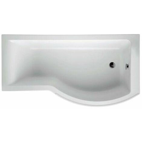 Ideal Standard Concept Idealform Plus P-Shaped Shower Bath 1700mm x 700/900mm RH - 0 Tap Hole