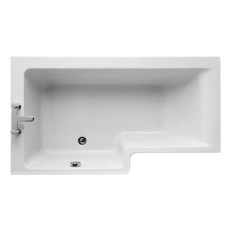 Ideal Standard Concept L-Shaped Shower Bath 1500mm X 700mm/850mm Left Handed 0 Tap Hole