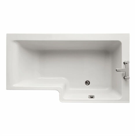 Ideal Standard Concept L-Shaped Shower Bath 1500mm X 700mm/850mm Right Handed 0 Tap Hole