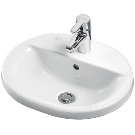 Ideal Standard Concept Oval Countertop Basin 480mm Wide 1 Tap Hole