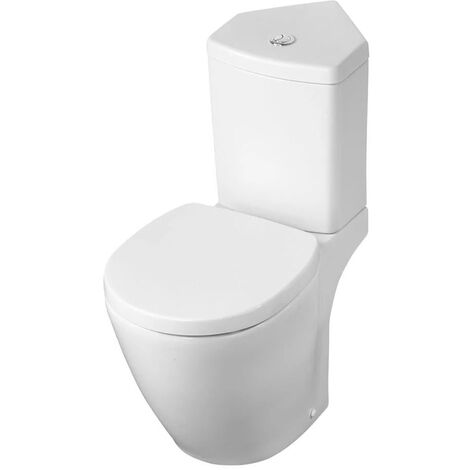 Ideal Standard Concept Space Close Coupled Toilet with Corner Cistern - Standard Seat