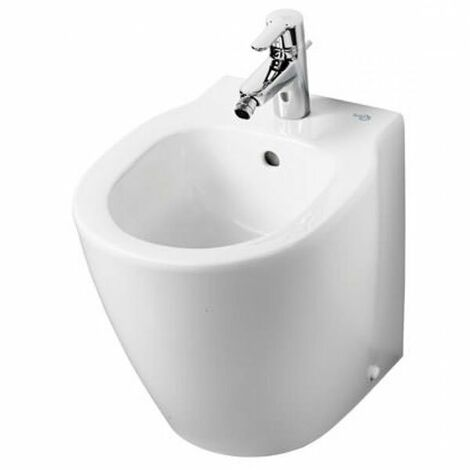Ideal Standard Concept Space Compact Floorstanding Back to Wall Bidet 400mm x 360mm 1 Tap Hole