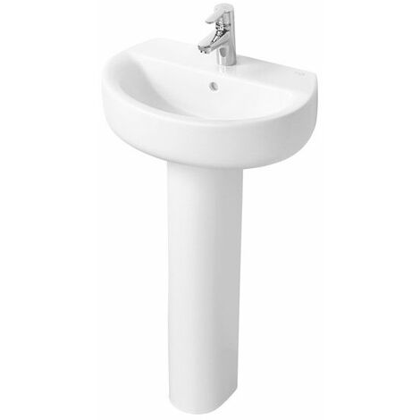 Ideal Standard Concept Space Sphere Short Projection Basin Full Pedestal 550mm x 380mm 1 Tap Hole