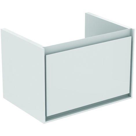 Ideal Standard CONNECT AIR Meuble lavabo Cube 1 tiroir 650mm ,400 x 585 x 412 mm Couleur Chêne grisé (E0847PS)