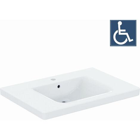 Ideal Standard CONNECT FREEDOM Lavabo pour personnes à mobilité réduite 800 x 165 x 555 mm, blanc (E548401)