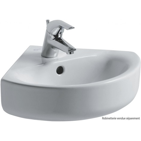 Ideal Standard CONNECT Lavabo d'angle 340 x 340 mm blanc (E713601)