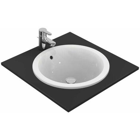 Ideal Standard Connect Lavabo empotrado redondo 480mm E5053, color: Blanco con Ideal Plus - E5053MA