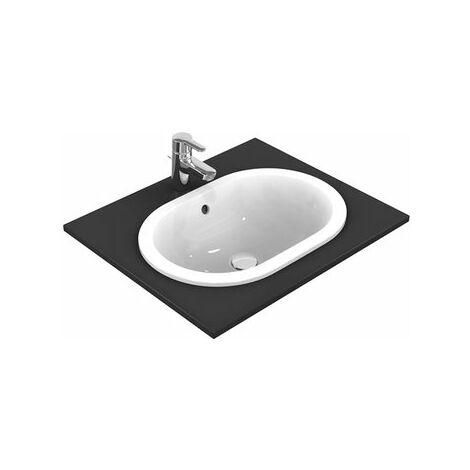 Ideal Standard Connect Lavabo encastré ovale 620mm E5049, Coloris: Blanc avec Idéal Plus - E5049MA