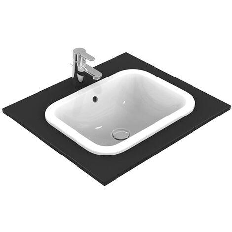Ideal Standard Connect Lavabo rectangulaire à encastrer 420mm E5055, Coloris: Blanc avec Idéal Plus - E5055MA