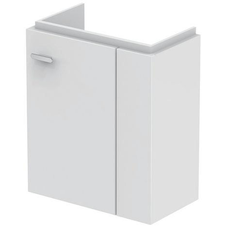 Ideal Standard CONNECT SPACE Módulo de lavabo, 450mm, 1 puerta, estante a la derecha, E0371, color: Decoración gris medio de alto brillo - E0371KR