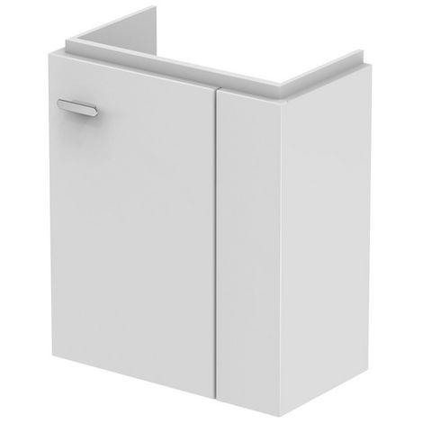 Ideal Standard CONNECT SPACE Módulo de lavabo, 450mm, 1 puerta, estante a la derecha, E0371, color: Lacado blanco brillo intenso - E0371WG