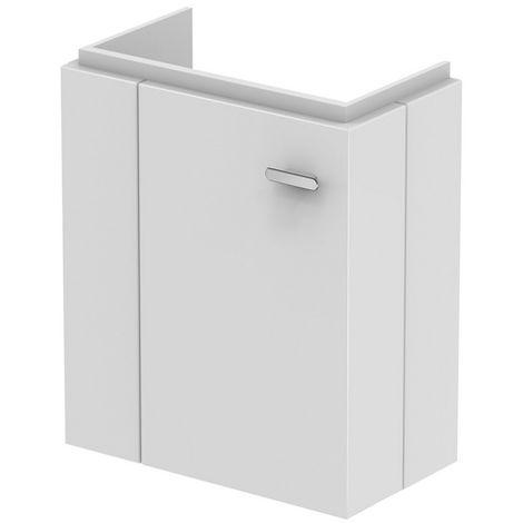 Ideal Standard CONNECT SPACE Módulo de lavabo, 450mm, 1 puerta, estante a la izquierda, E0370, color: Decoración gris medio de alto brillo - E0370KR