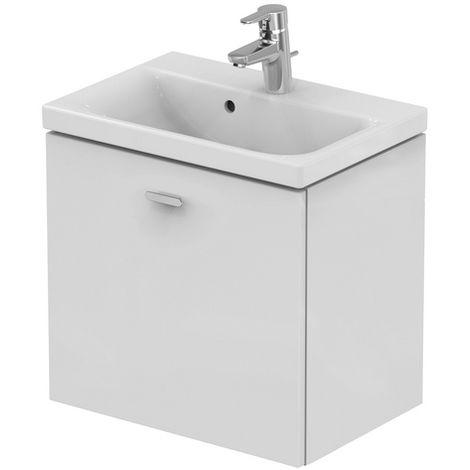 Ideal Standard CONNECT SPACE Módulo de lavabo, 550 mm, 1 extraíble, E0313, color: Decoración gris medio de alto brillo - E0313KR