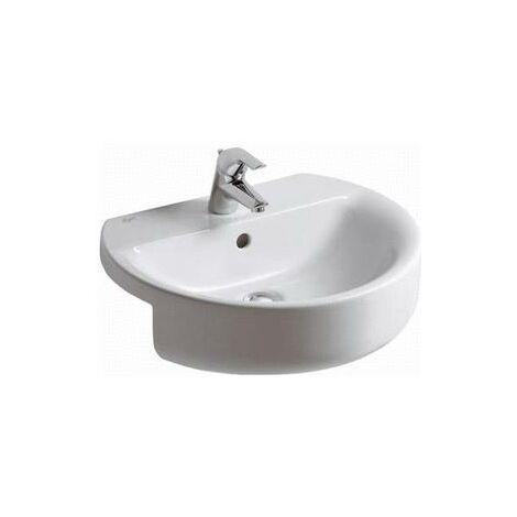 Ideal Standard Connect Sphere Lavabo semi-encastré 550mm E7923, Coloris: Blanc - E792301