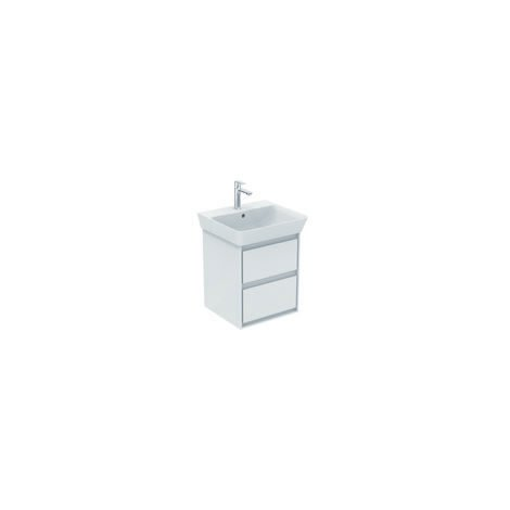 Ideal Standard CONNECT Unidad de lavabo de aire, 430 mm, 2 extraíbles, E1608, color: Blanco brillante / gris claro mate - E1608KN