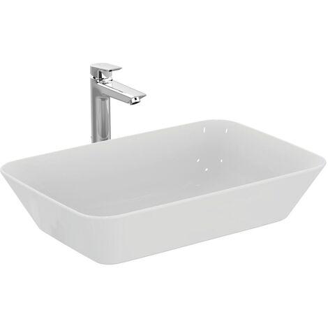 Ideal Standard Cuvette de lavabo Connect Air Wash , rectangulaire, 600mm E0348, Coloris: Blanc avec Idéal Plus - E0348MA