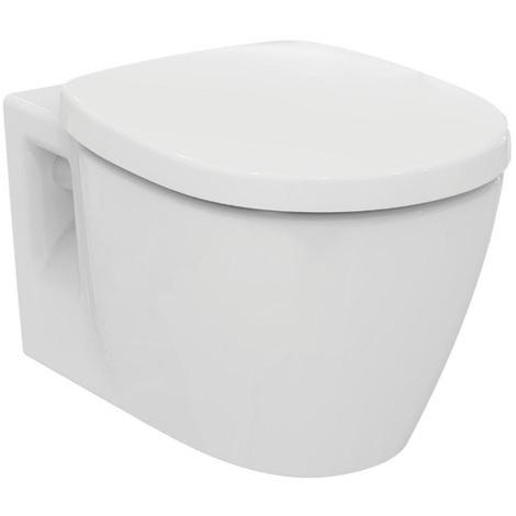 Ideal Standard - Cuvette suspendue en porcelaine avec abattant frein de chute blanc - CONNECT